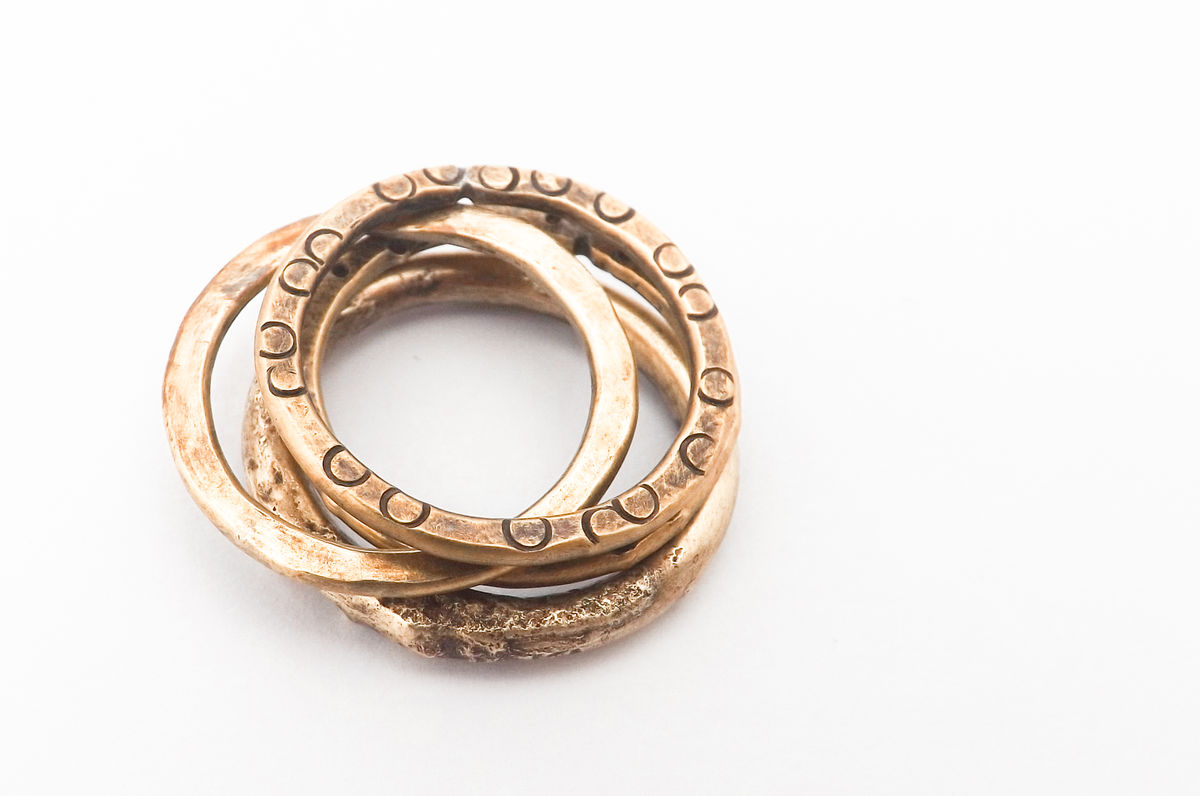 brass stacker ring - product image