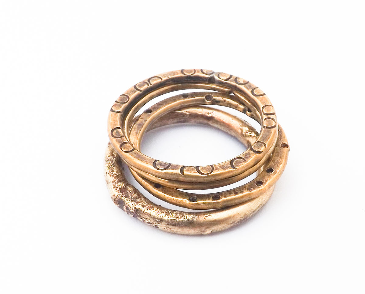 brass stacker ring - product images  of