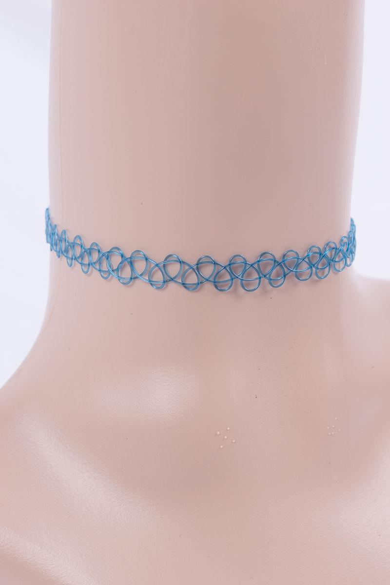 Blue Tattoo Choker - product images  of