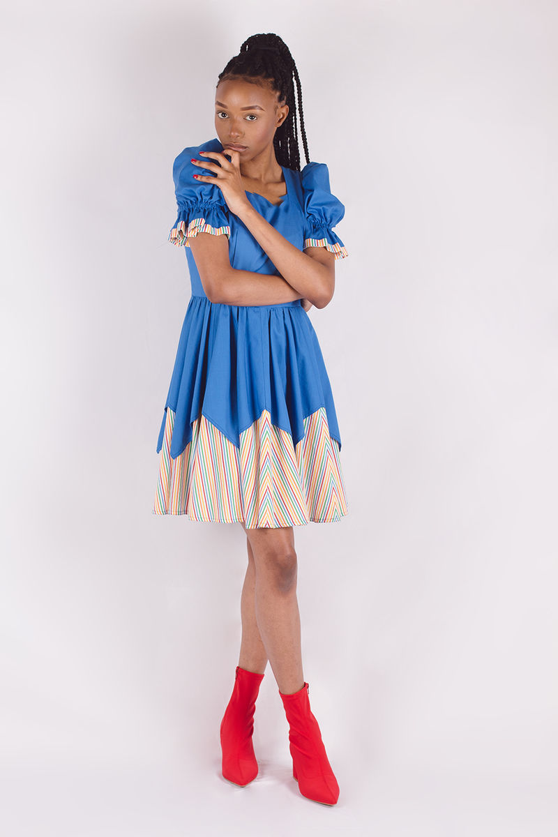 Blue Rainbow Dress - product images  of