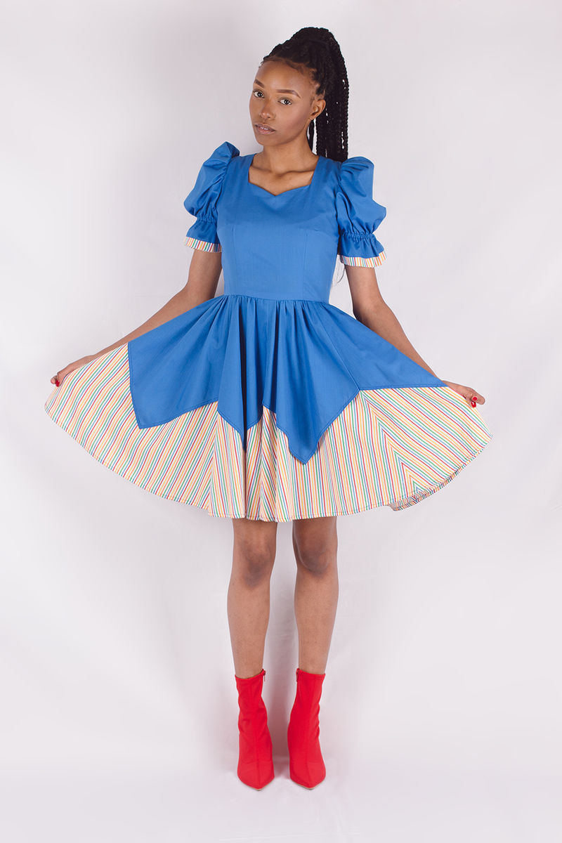 Blue Rainbow Dress - product image