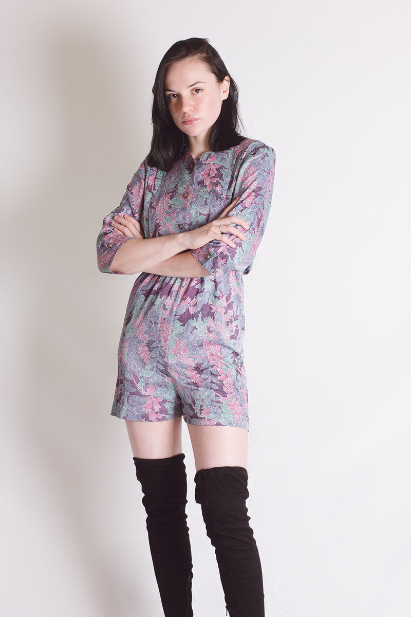 Pastel Leaves Romper - product image