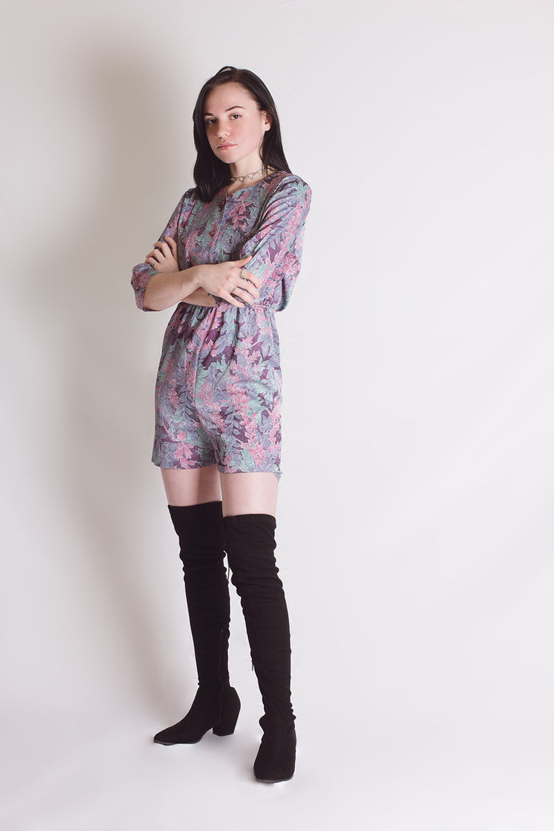 Pastel Leaves Romper - product images  of