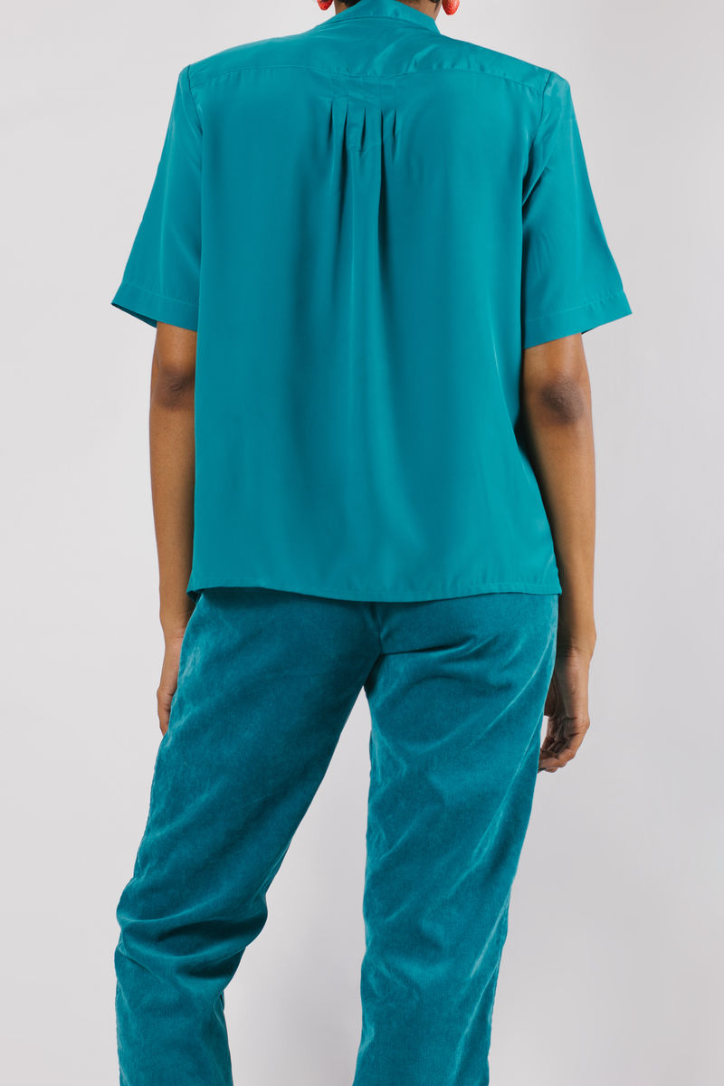 Green Short Sleeve Blouse - product images  of