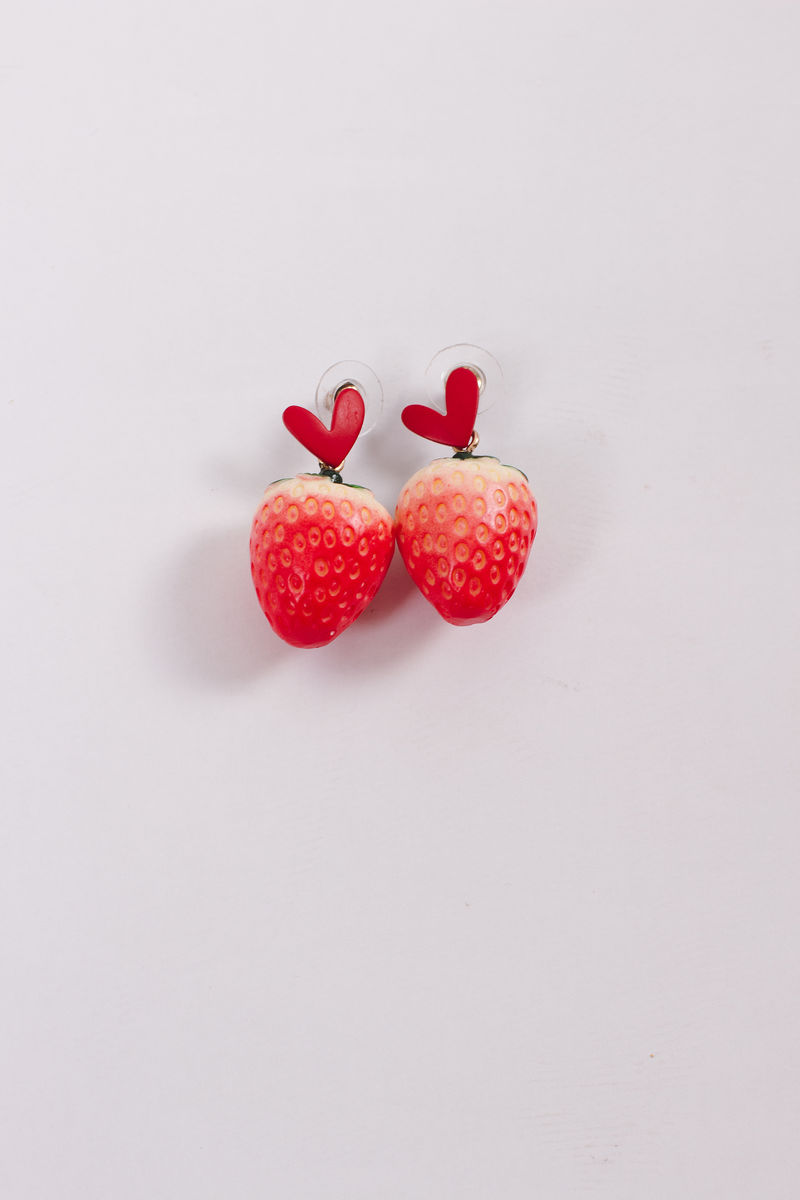 Strawberry Heart Earrings - product image
