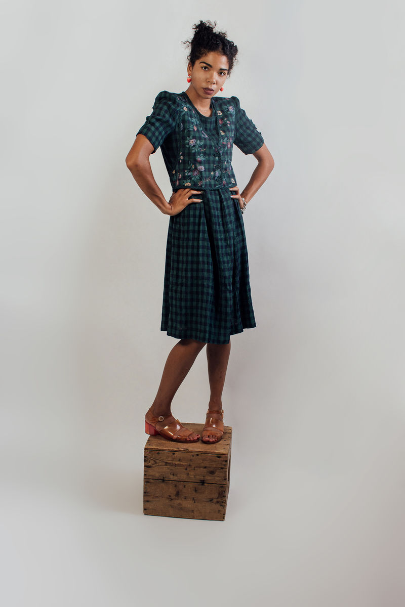 Green Prairie Midi Dress - product images  of