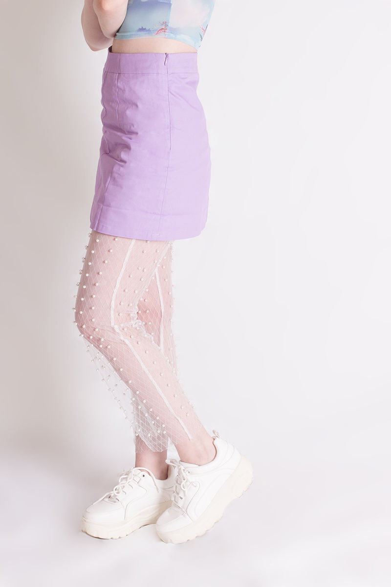 White Pearl Leggings - product images  of