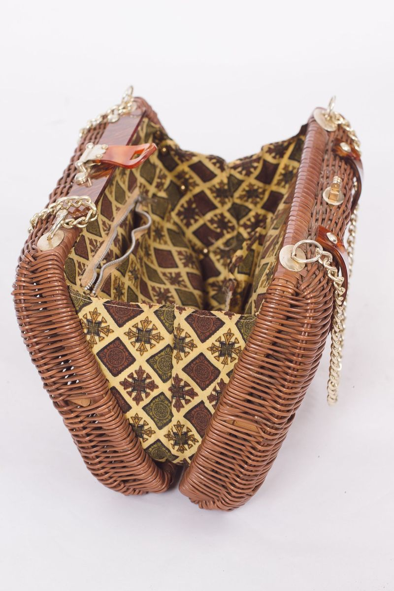 80's Brown Basket Purse - product images  of