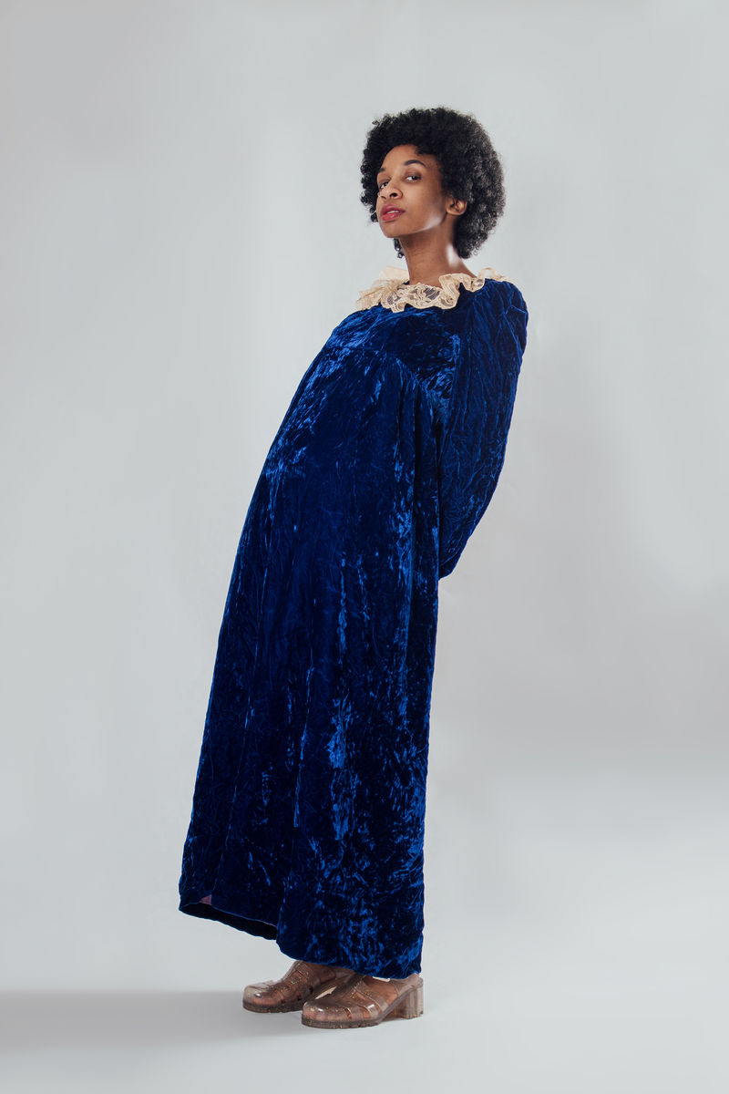 Blue Crush Velvet Maxi Dress - product image