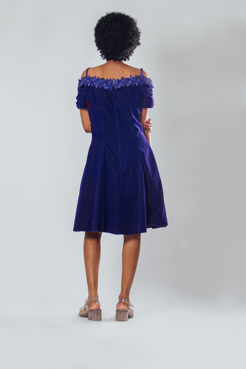 Y2K Purple Velvet Dress - product images  of