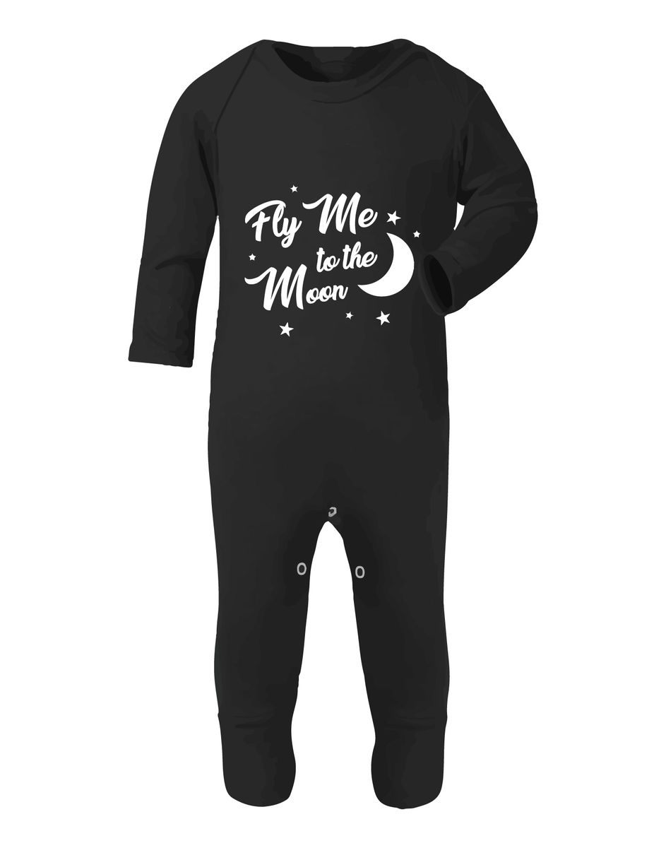 Fly Me To The Moon Black or White Baby Romper - product images  of