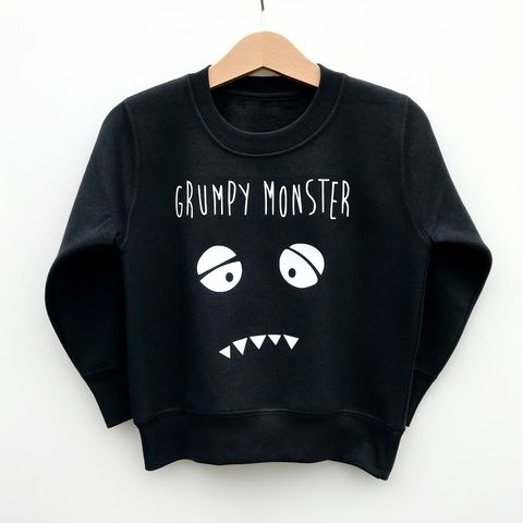 'Grumpy,Monster',Kids,Sweatshirt,(various,sizes),cool kids sweatshirt, funny kids sweater, grumpy monster, popular kids clothes, trendy kids jumper, funny baby top, baby clothes, kids clothes, cool toddler clothes, cool kid clothes, monster clothes, monster jumper, monster sweater