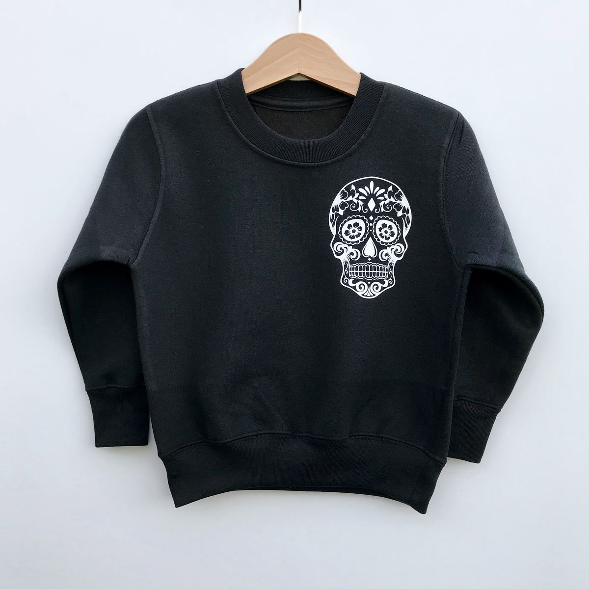 Sugar Skull Pocket Print Sweatshirt - product images  of
