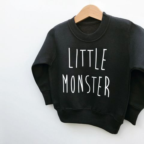 'Little,Monster',Kids,Sweatshirt,(various,sizes),cool kids sweatshirt, funny kids sweater, little monster, baby monster, trendy kids jumper, funny baby top, baby clothes, kids clothes, cool toddler clothes, cool kid clothes