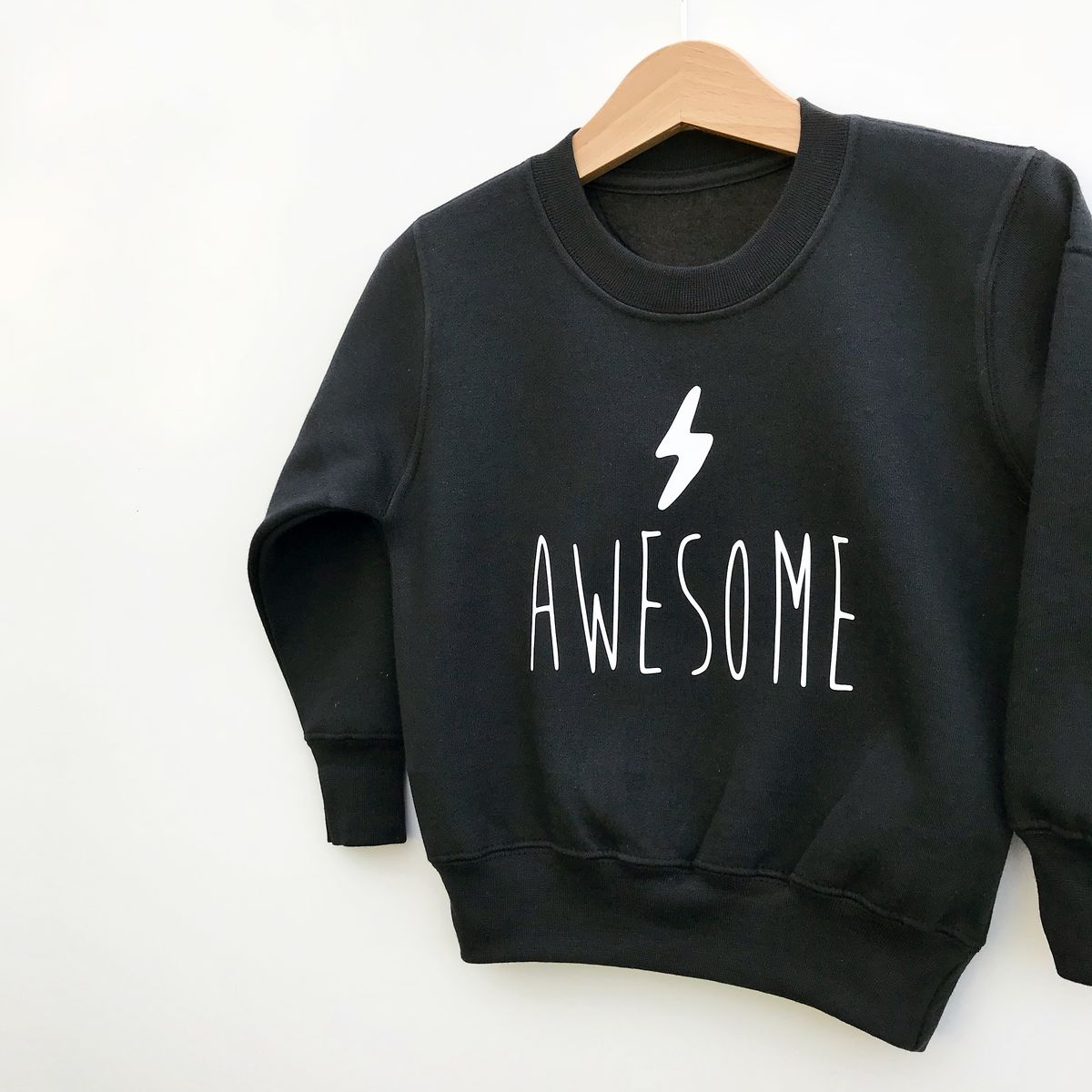 'Awesome' Kids Sweatshirt with Lightning Bolt (various sizes) - product images  of