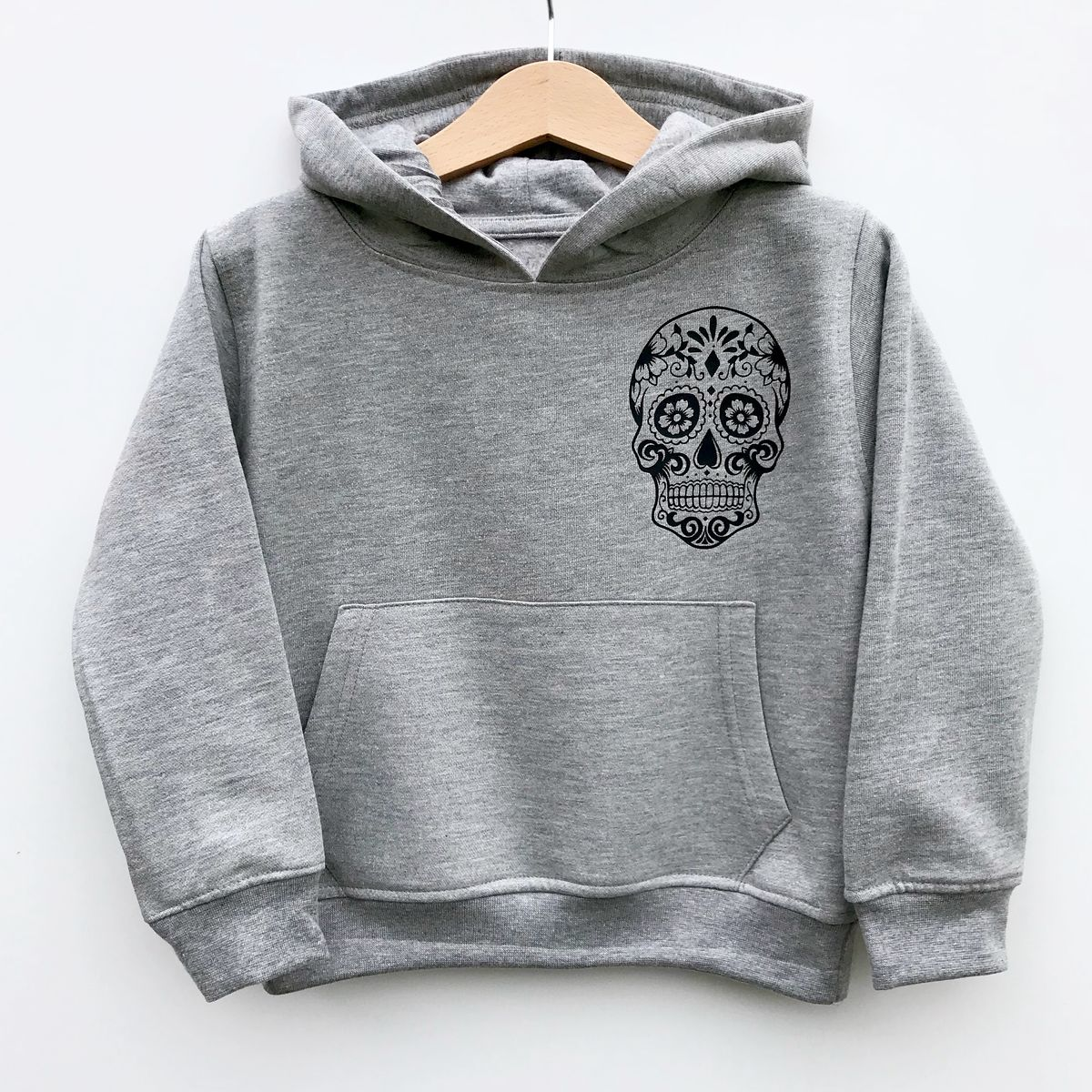 Sugar Skull Pocket Print Hoodie - product images  of