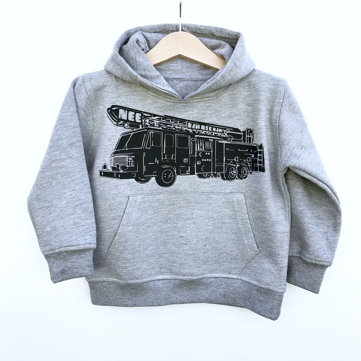NeeNaw! Fire Truck Kids Hoodie (Various Sizes) - product images  of