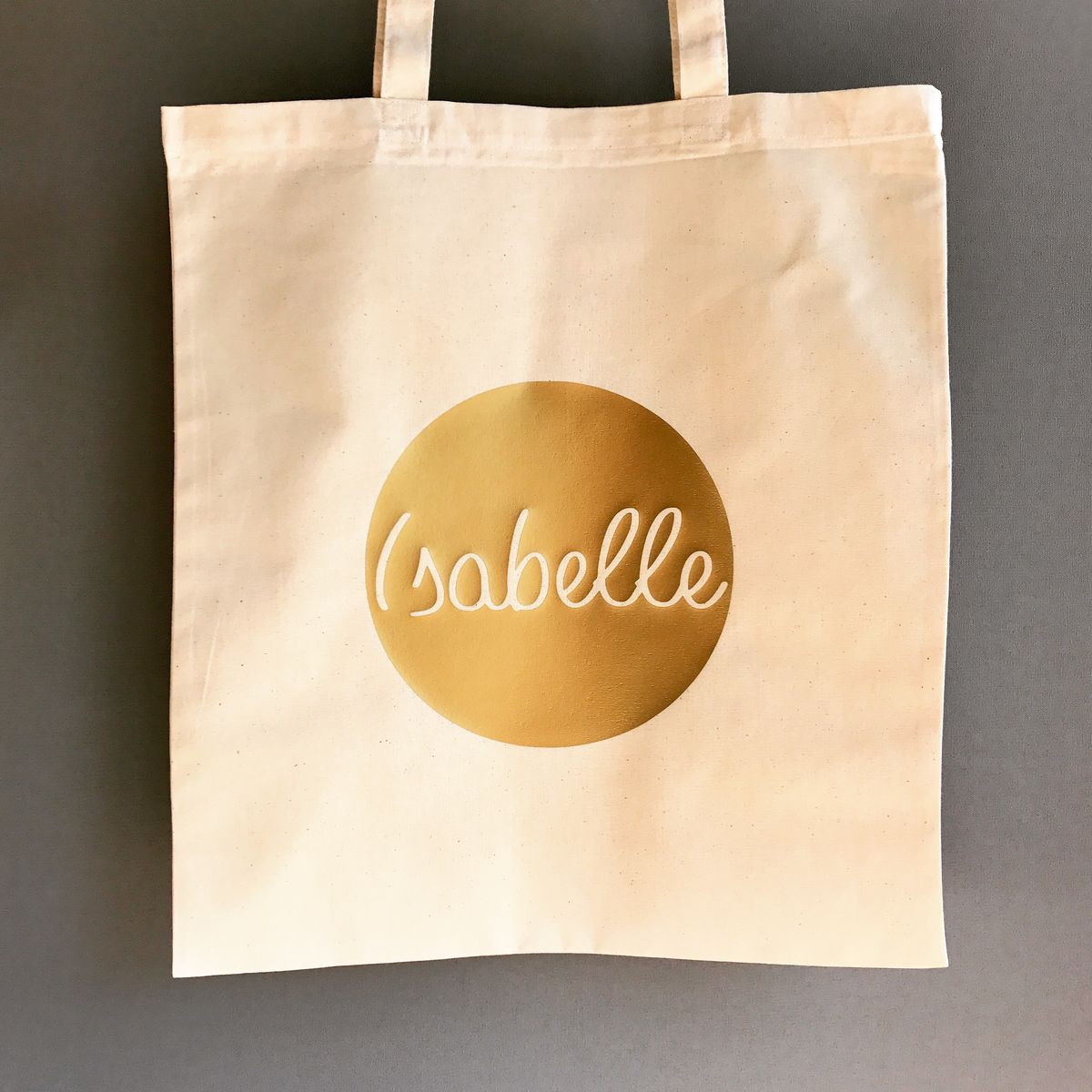 Custom Name Circle Gold/Silver/Black Tote Bag - product images  of