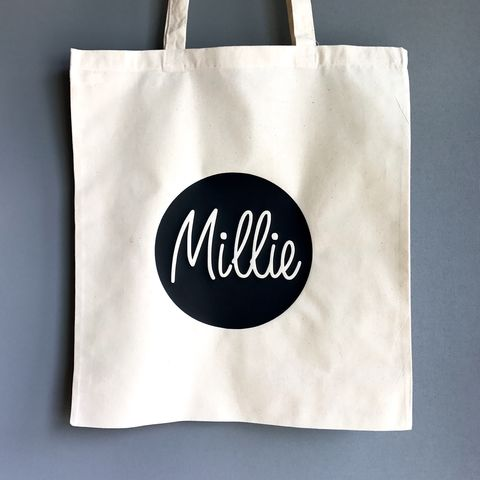 Custom,Name,Circle,Gold/Silver/Black,Tote,Bag,custom name bag, personalised name bag, personalised tote bag, custom tote bag, name tote bag, nursery bag, bag for life, carrier bag, shopping bag, canvas bag, cotton bag, gift bag