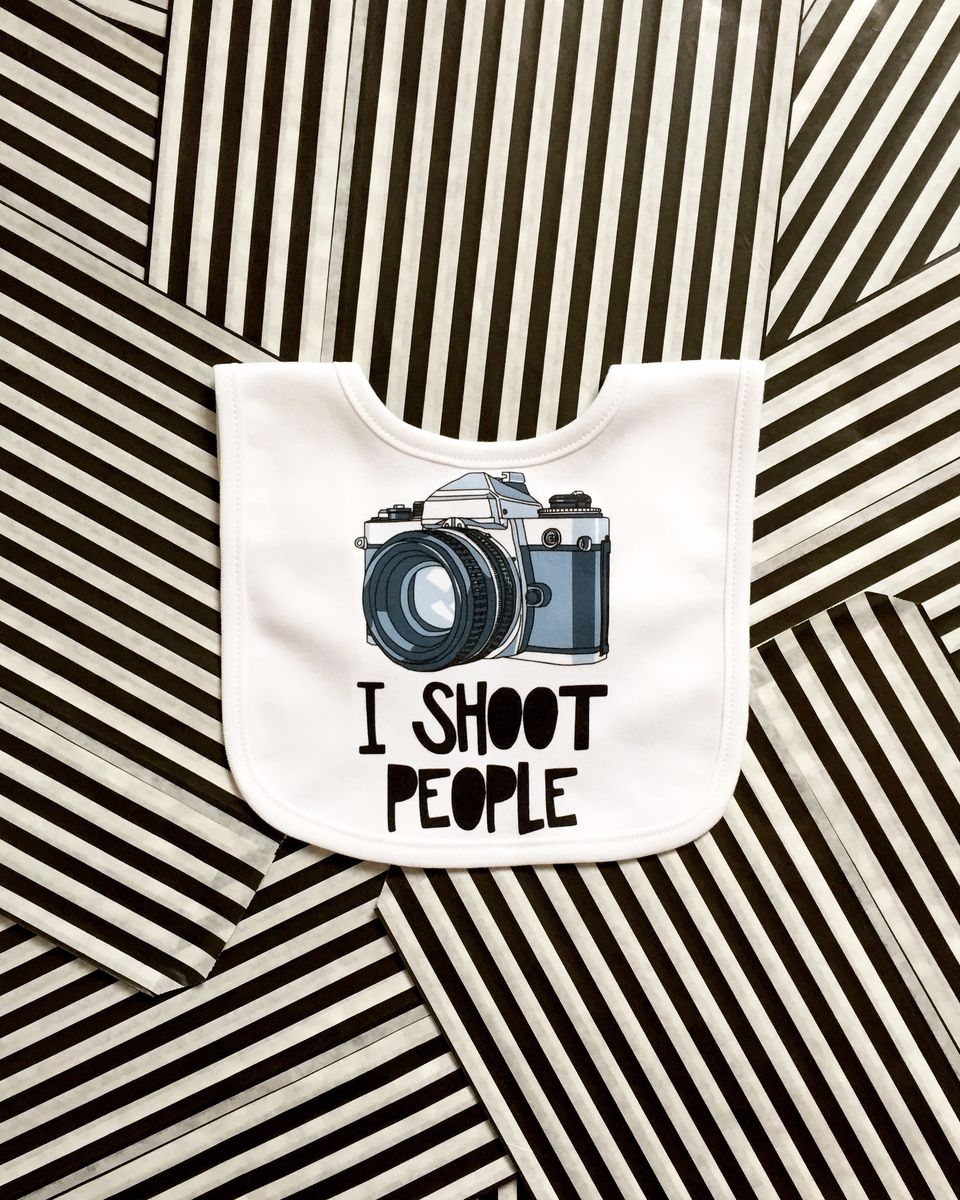 I Shoot People Baby Bib - product images  of