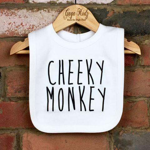 Cheeky,Monkey,Baby,Bib,cheeky monkey velcro baby bib, monkey baby bib, cute animal baby bib, cotton baby bib, funny baby bib, cute baby clothes, funny baby clothes, unique baby gifts, baby shower, baby shower gift, cool baby bib, cool baby clothes, unisex baby bibs, drool bibs