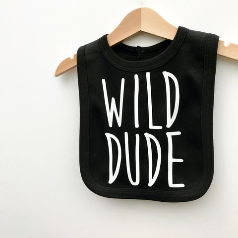Wild,Dude,Baby,Bib,wild dude baby bib, wild dude bib, wild dude clothing, baby wild bib, silly baby clothes, cute baby boy bib, funny baby bibs, cute bib, cool baby clothing, funny baby clothes, unique baby gifts, baby shower gift, cool baby bib
