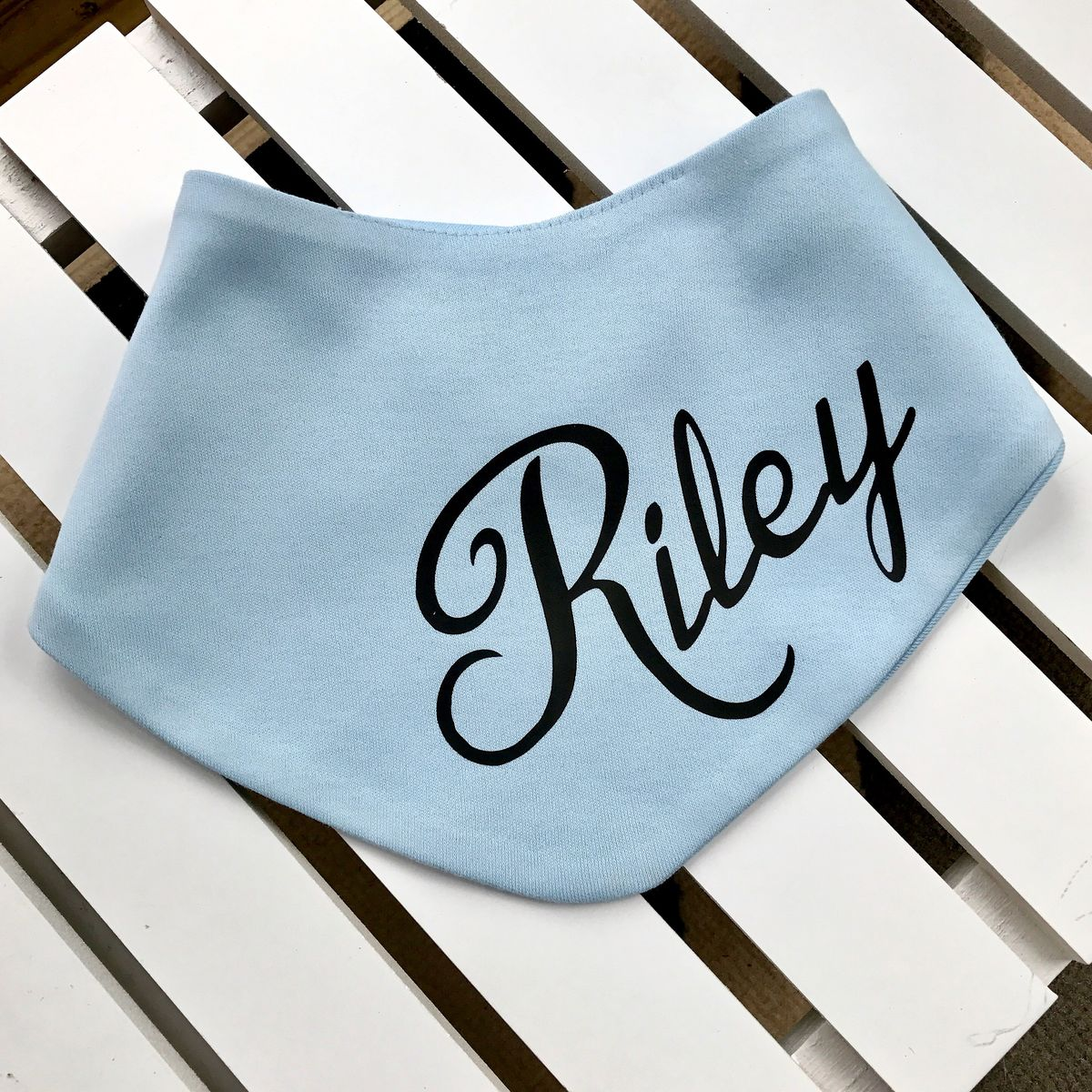 Personalised Baby Name Bandana Bib (various colours) - product images  of