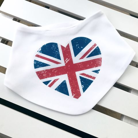 UK,Heart,Baby,Bib,uk heart baby bib, baby union jack, british flag bib, baby uk british flag, uk baby bib, cute baby bib, cotton baby bib, funny baby bib, cute baby clothes, funny baby clothes, unique baby gifts, baby shower, baby shower gift, cool baby bib, gaga kidz