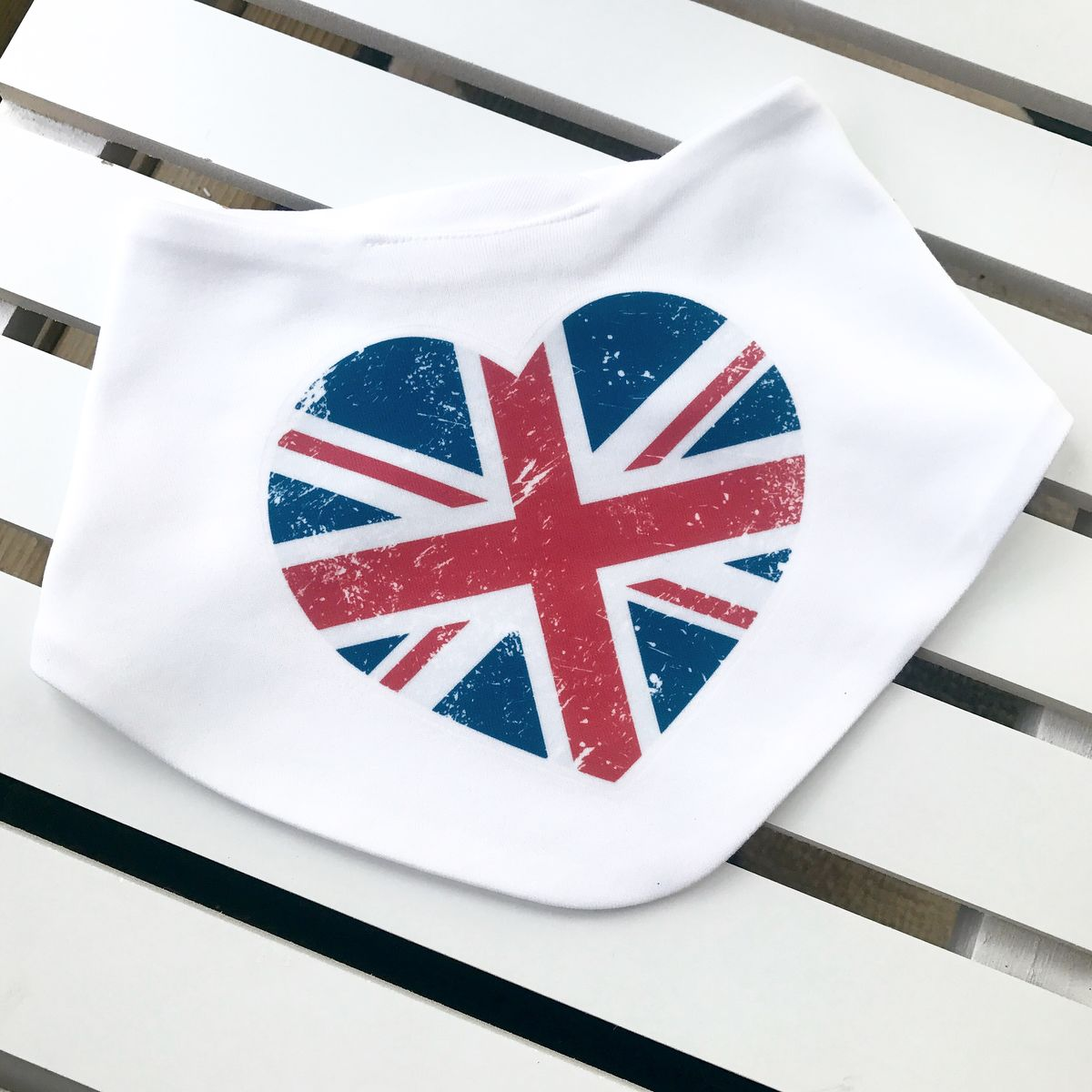 UK Heart Baby Bib - product images  of