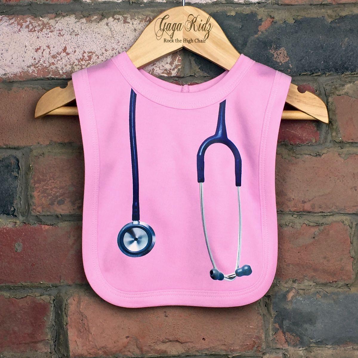 7812ddf544f6b Stethoscope Baby Bib (various colours) - Gaga Kidz