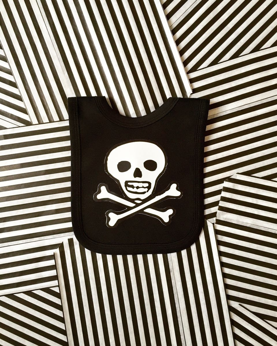 Pirate Jolly Rogers Baby Bib - product images  of