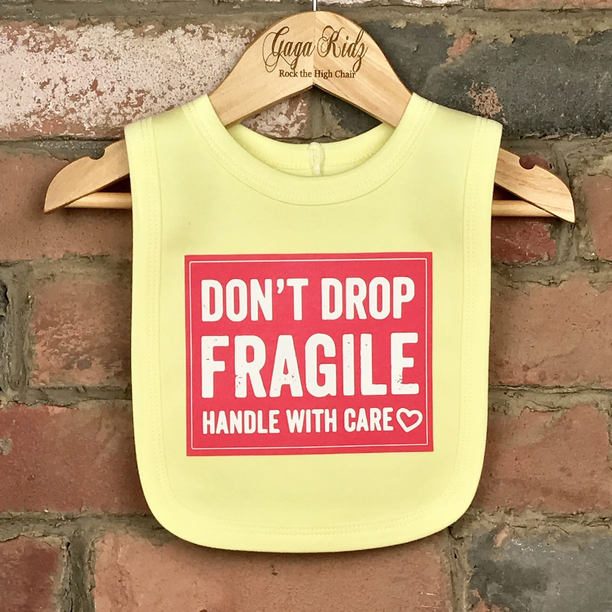 Fragile Don't Drop Me Baby Bib - product images  of