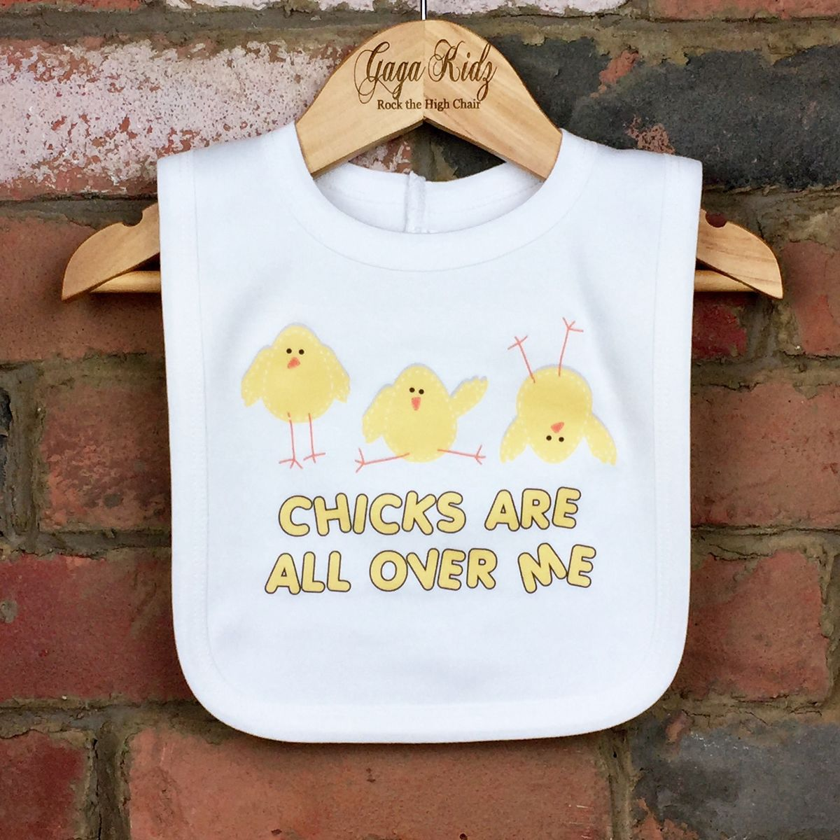 Chicks Are All Over Me Baby Bib - product images  of