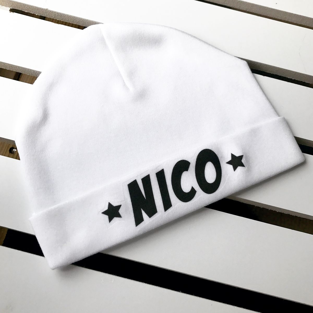Baby Name Beanie Hat Personalised (various sizes) - product images  of