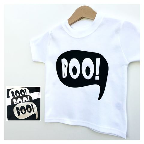 Boo!,Black/Gold/Silver/White,T-Shirt,boo kids tee, spooky children's t-shirt, boo baby tshirt, baby boo tshirt, halloween baby tshirt, funny baby tee, funny kids top, cotton baby t-shirt, funny baby clothes, cute baby clothes, spooky baby tshirt, halloween kids outfit
