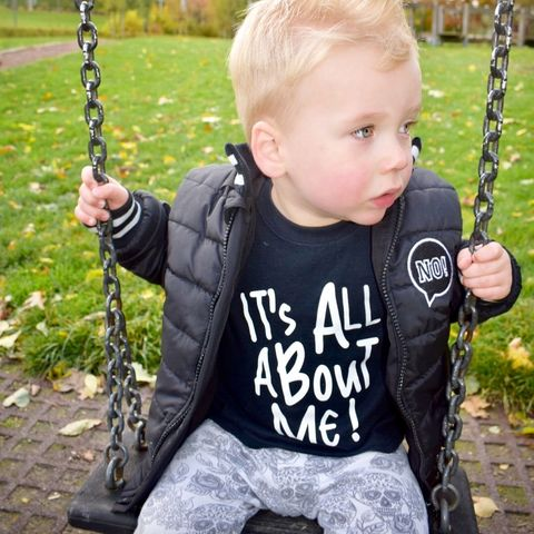 It's,All,About,Me,Black,or,White,T-Shirt,all about me kids tee, toddler tshirt, baby tshirt, funny baby clothes, funny baby tee, funny kids top, cotton baby t-shirt, cute baby clothes, funny slogan kids tshirts