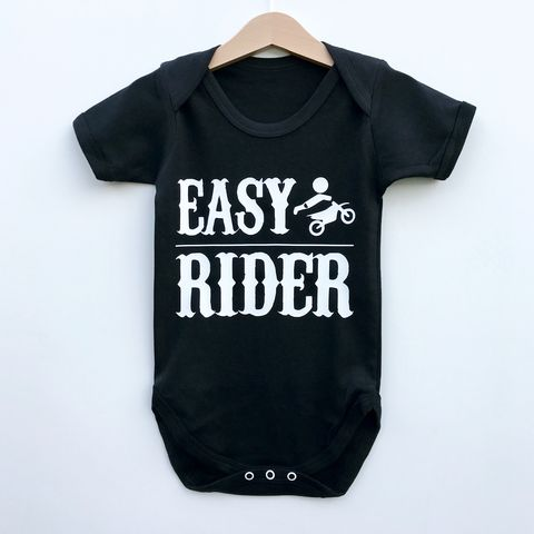 Easy,Rider,Baby/Toddler,Bodysuit,(various,sizes),easy rider baby bodysuit, baby biker baby onesie, hells angels baby, motorcycle babygrow, biker baby romper, alternative baby clothes, cotton baby grow, funny baby grow, cool baby clothes, funny baby clothes, alternative baby gift, unisex baby clothes