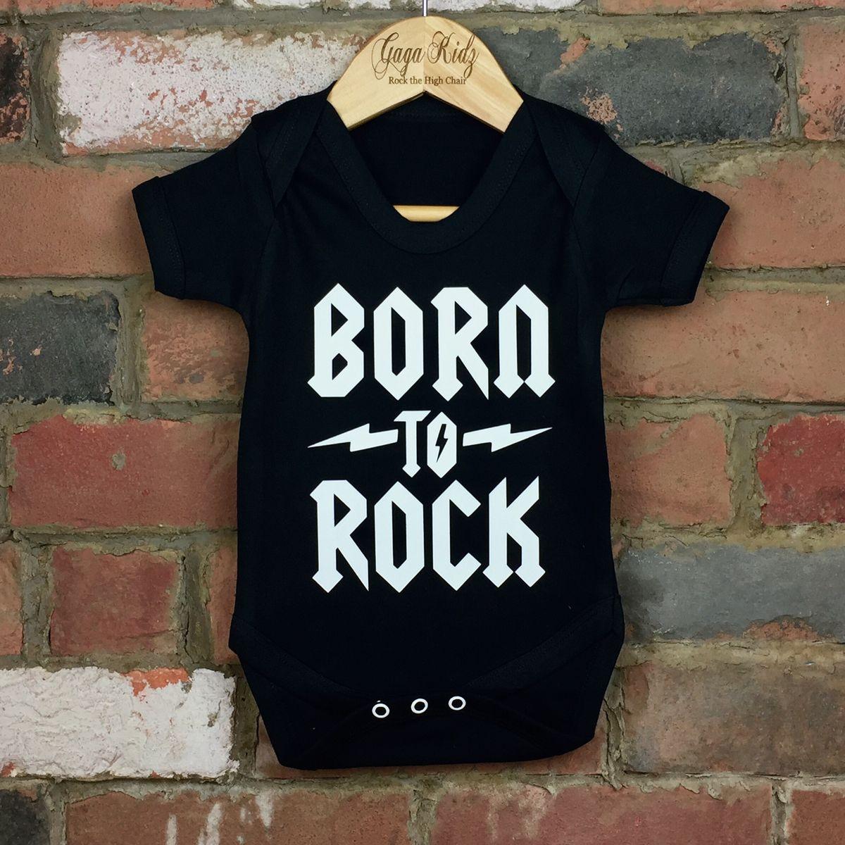 534446f77e91 ... Born To Rock Black & White Baby/Toddler Bodysuits (various sizes)  ...