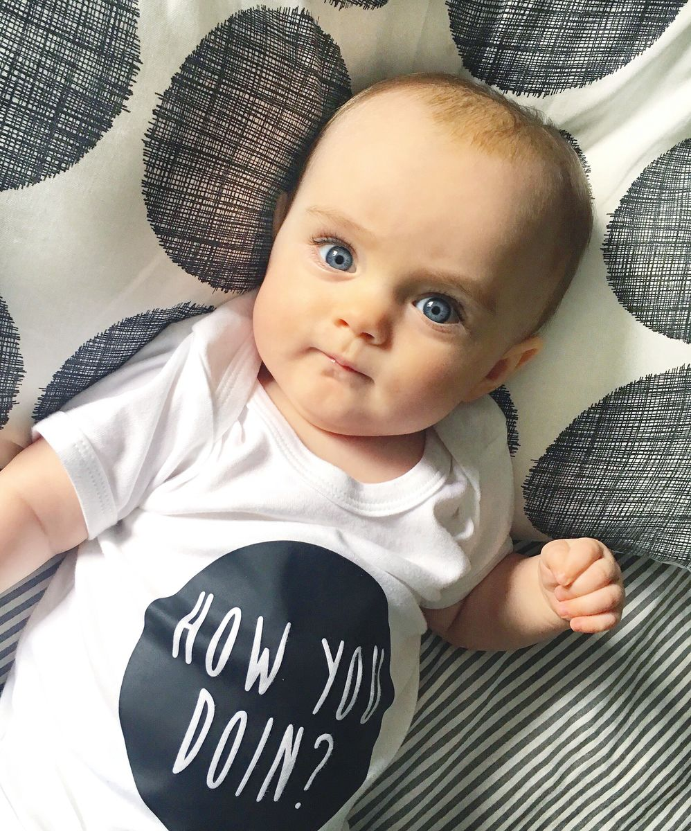 How You Doin Black & White Baby/Toddler Bodysuit (various sizes) - product images  of