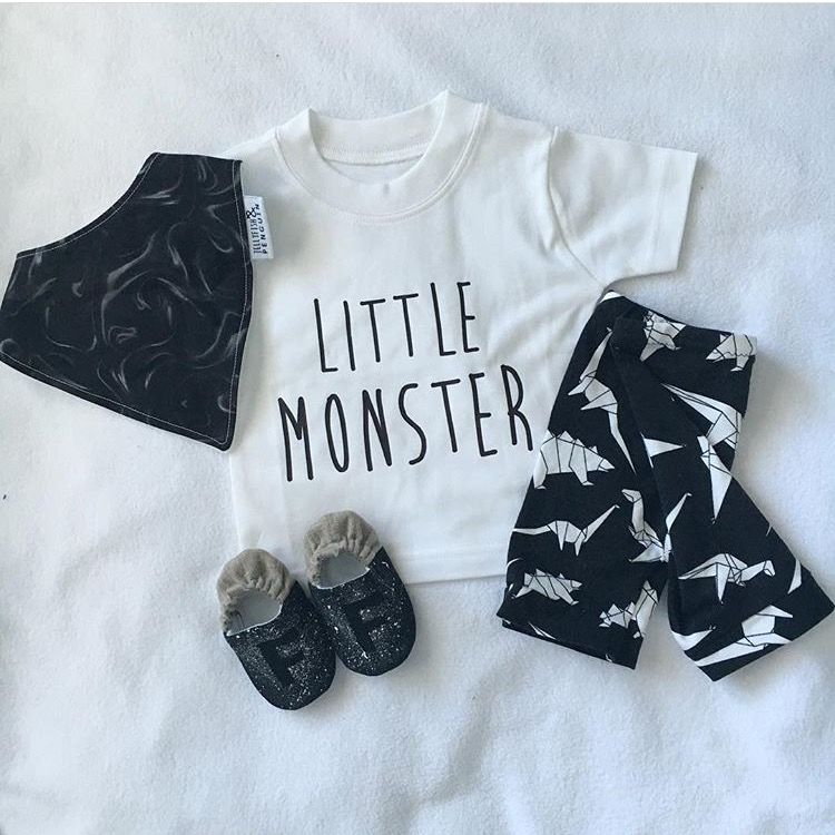 Little Monster Black or White T-Shirt - product images  of