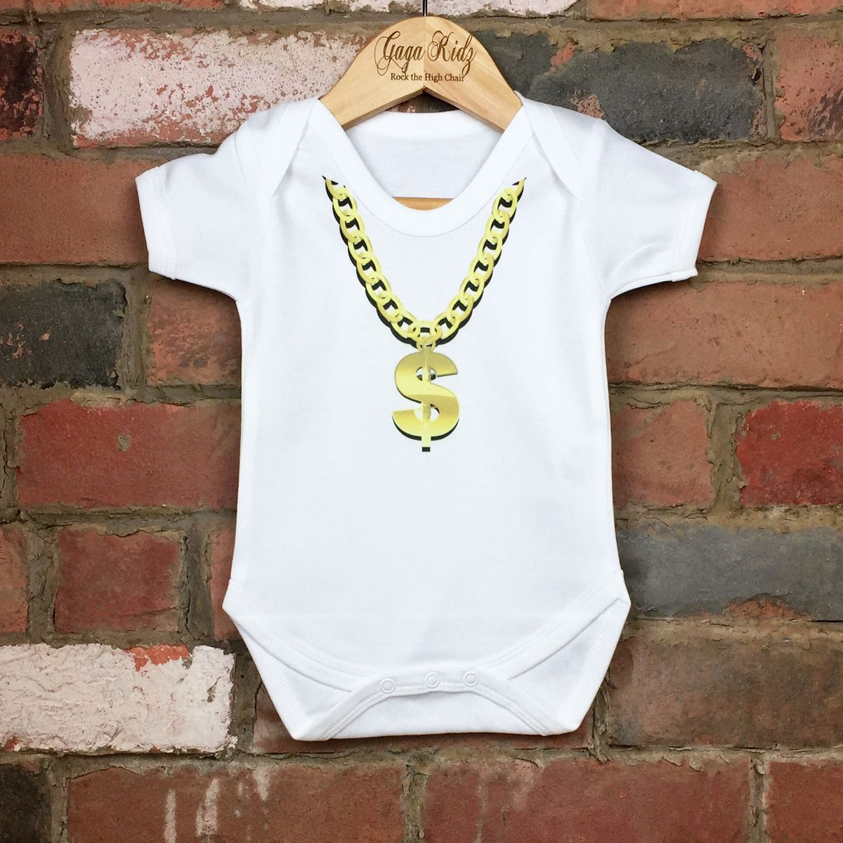 Gold Chain Necklace Baby/Toddler Bodysuit (various sizes) - product images  of