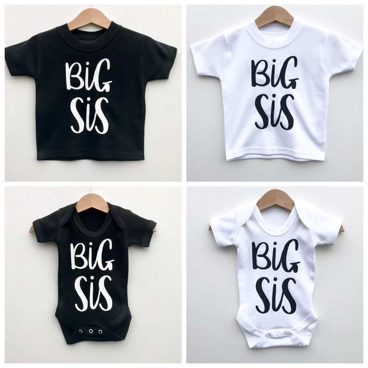Big Sis Sibling T-Shirt or Bodysuit (various sizes) - product images  of