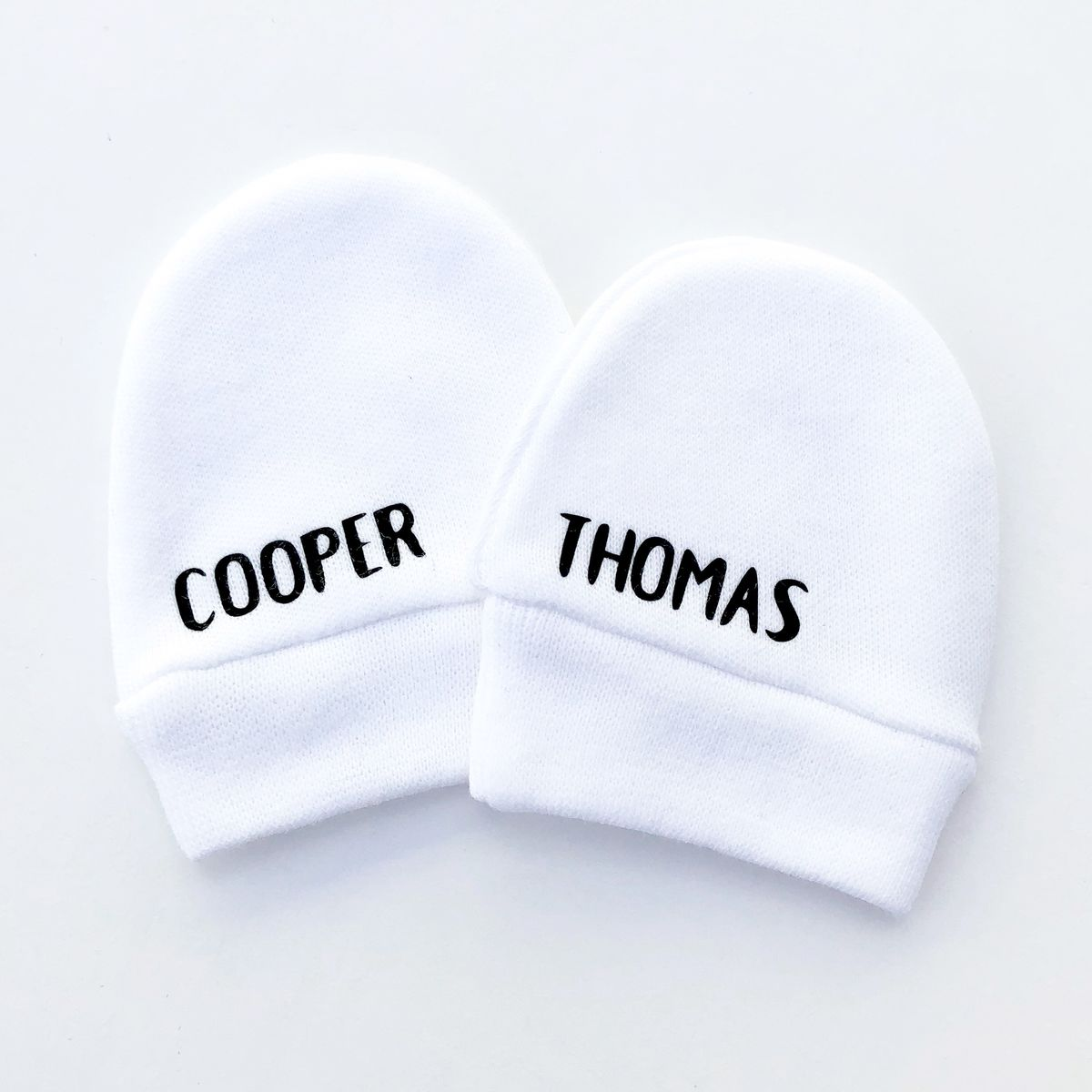 Custom Baby Name Scratch Mittens - product image