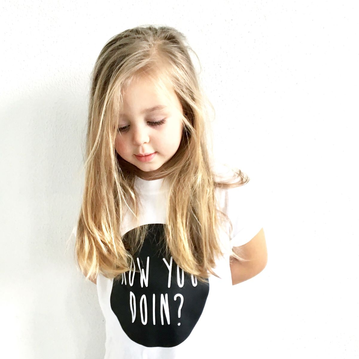 How You Doin Black & White Kids TShirts (various sizes) - product images  of
