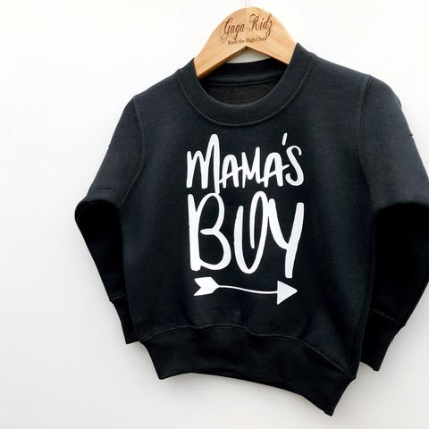 Mama's,Boy,Sweatshirt,mama's boy, mummy boy, mommy and me, cute kids sweatshirt, funny kids sweater, baby jumper, valentines day gift, gift for him, gift for her, mothers day gift, popular kids clothes, trendy kids jumper, funny baby top, baby clothes, kids clothes, cool toddl