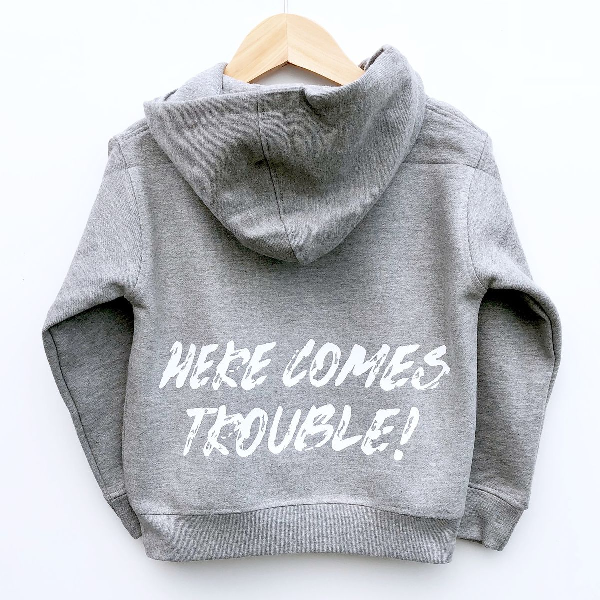 Here Comes Trouble Kids Hoodie (Various Sizes) - product images  of
