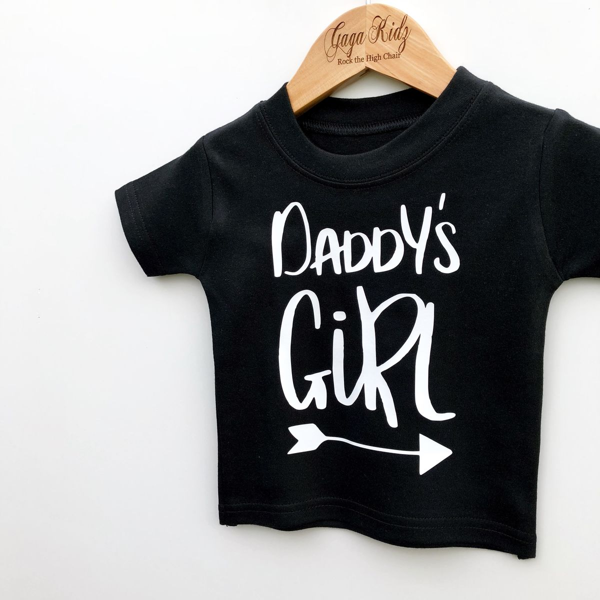 Daddy's Girl Black & White Kids T-Shirts (various sizes) - product images  of