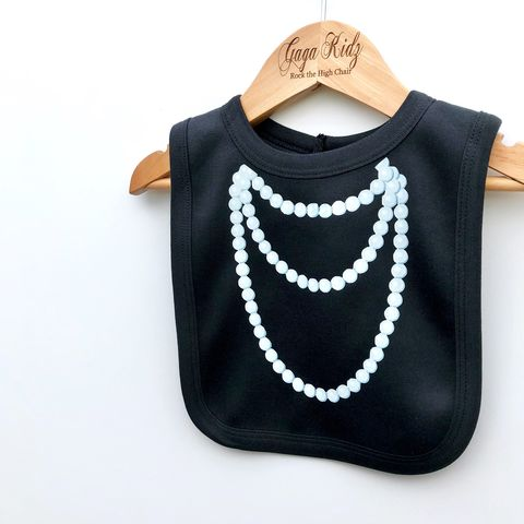 Pearl,Necklace,Baby,Bib,baby necklace, baby jewellery, pearl necklace, baby pearls, necklace bib, dress up baby, baby dress up, funny baby bib, funny baby clothes, newborn baby gifts, baby shower
