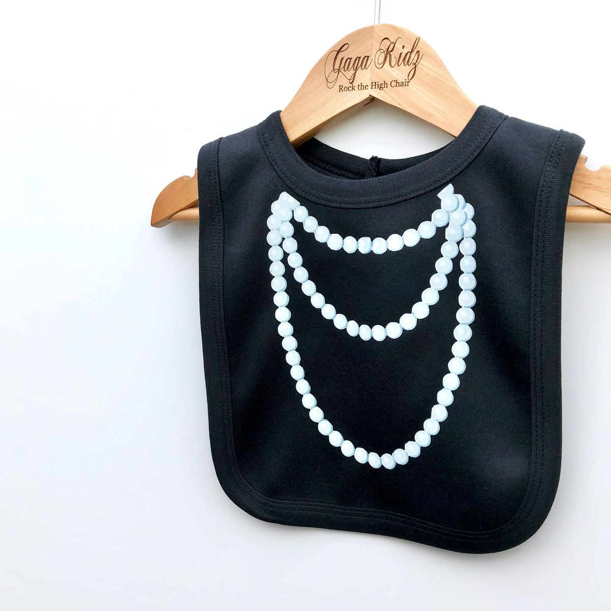 Pearl Necklace Baby Bib - product image