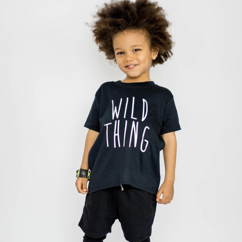 Wild,Thing,Black,or,White,T-Shirt,wild thing baby tee, wild baby t-shirt, wild thing kids tees, cool kids top, baby t-shirt, cotton baby t-shirt, funny baby tee, cute baby clothes, funny baby clothes, unique baby gifts, toddler tees